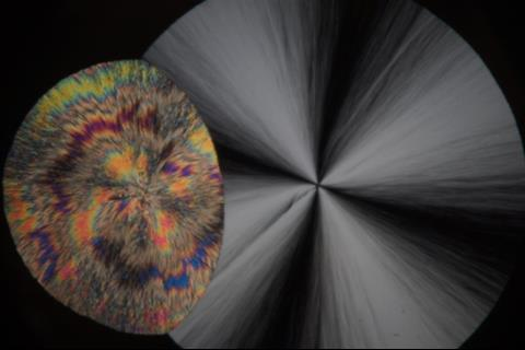 An image showing the mysterious and colourful second crystal